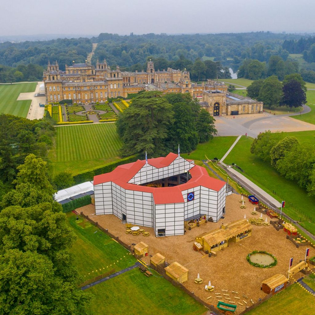 Shakespeare's Rose Theatre is Europe's first-ever pop up Shakespearean Theatre at Blenheim Palace.