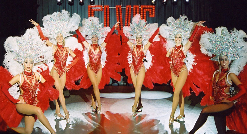 Las Vegas Show Girls for Christmas Parties